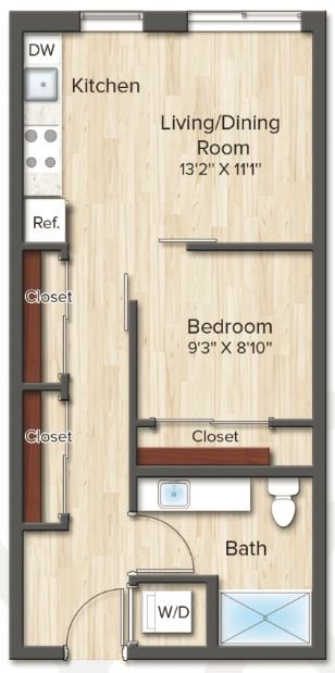 The Monroe (A1) Floor Plan 1