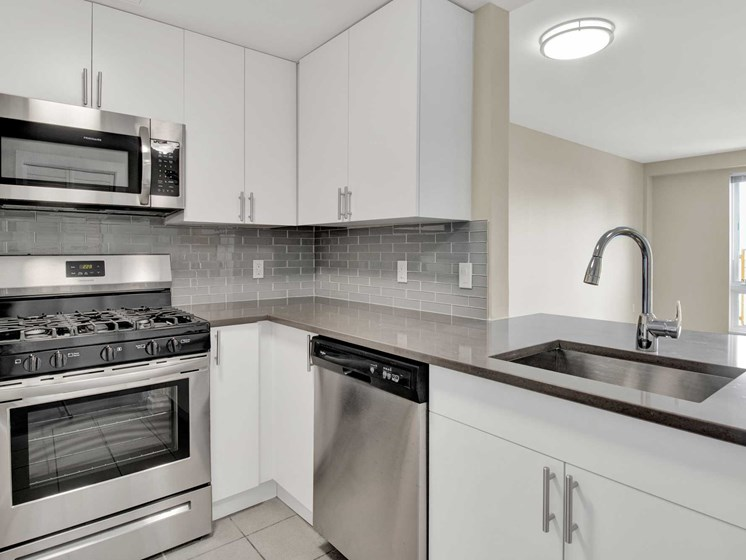 Modern kitchens feature stainless steel appliances