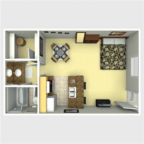 Studio Floor Plan 4