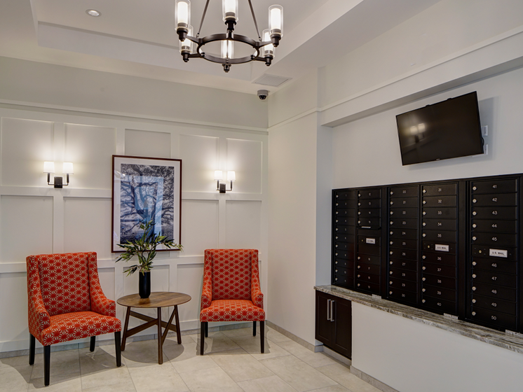 Boutique Lobby at Courthouse Square Apartments, Wheaton, 60187