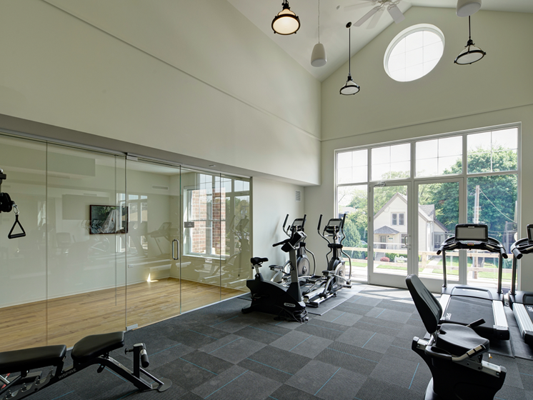 Fitness Studio at Courthouse Square Apartments, Wheaton, 60187