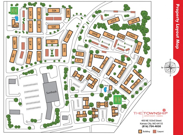 Township Apartments Map