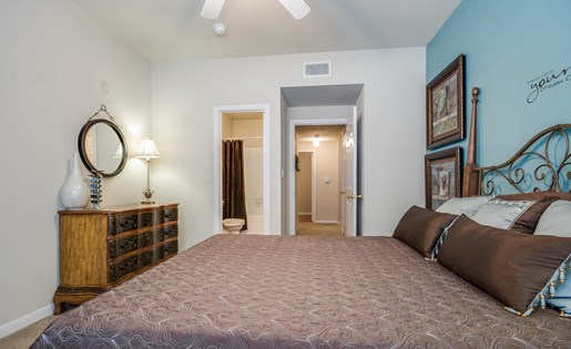 Mission Rockwall Apartments Rockwall Texas Bedroom with Accent Wall
