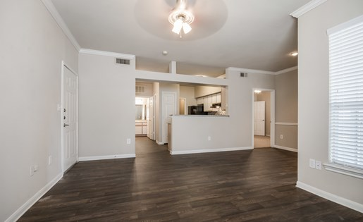 Mission Rockwall Apartments Rockwall Texas Living Room with Hardwood Style Flooring
