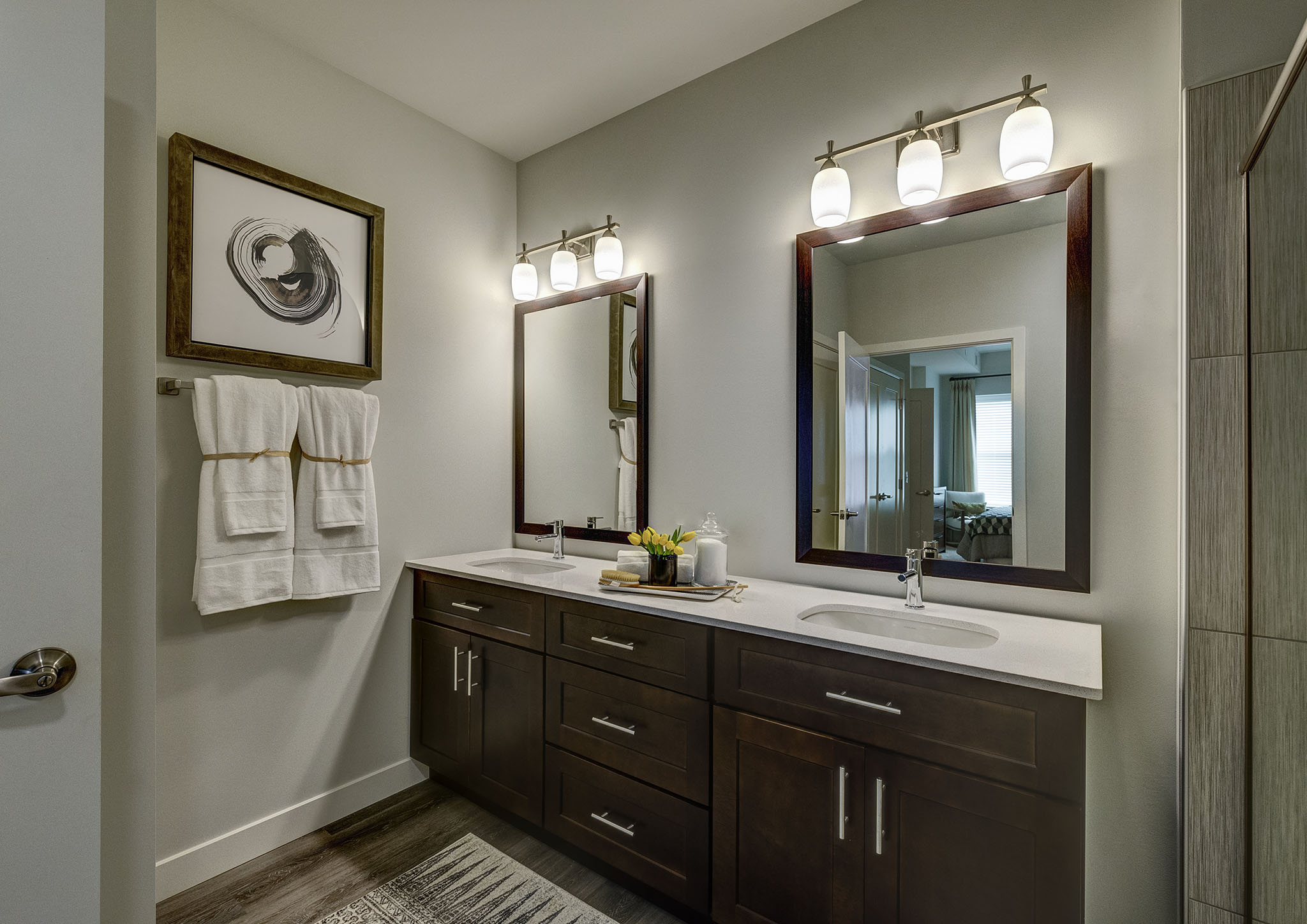Custom Lightning in bathroom at Buckingham Place, Des Plaines, IL, 60016
