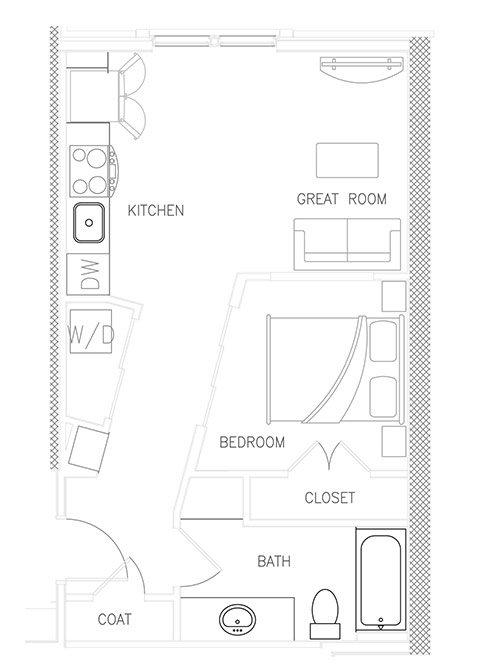 Scorpius - 1BR x 1 bath Floor Plan 10