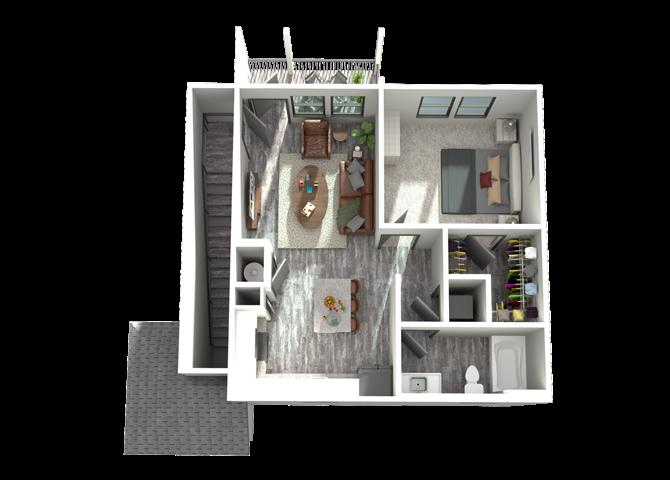 A5A- One Bedroom/One Bath-848 sf Floor Plan 7