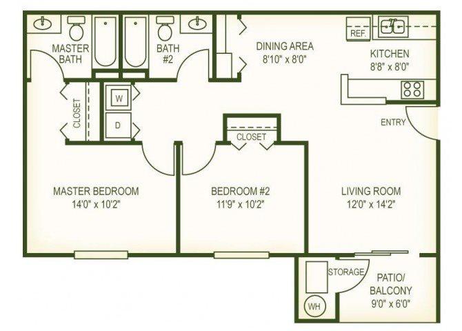 2 Br Floor Plan 2
