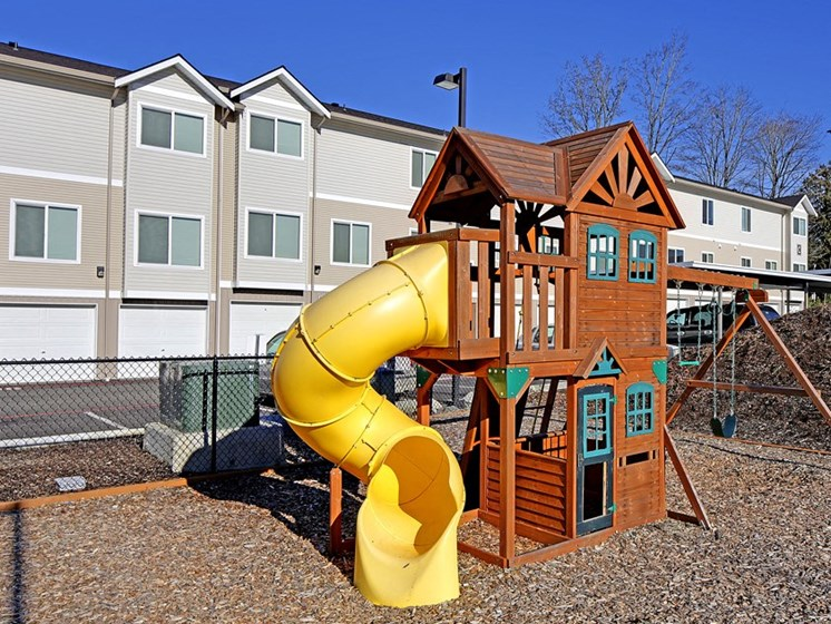 Luxury Apartment Community Playground Slide Treehouse Kid Child Family Friendly Outside Outdoor After School