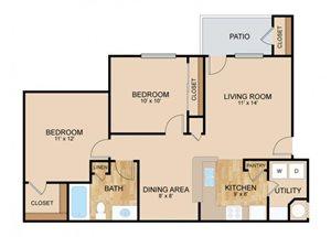 Floor plan at Landings, The, Bellevue, 68123