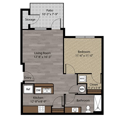 Floor plan at Landings, The, Bellevue, 68123
