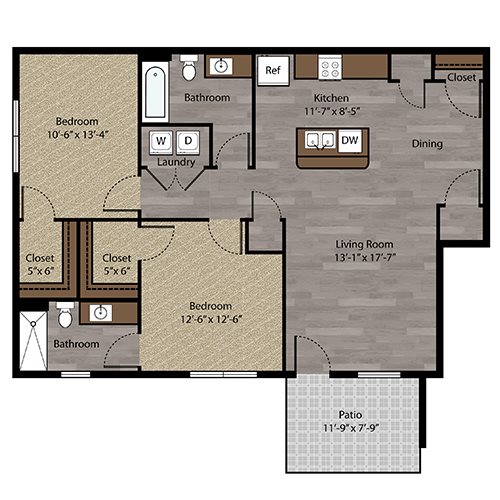 Floor plan at Landings, The, Bellevue, Nebraska