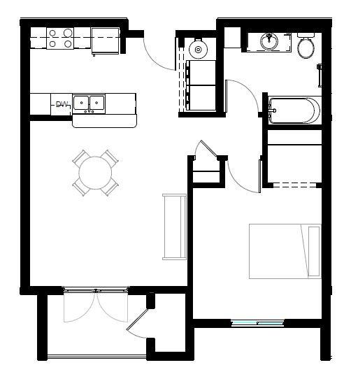 ONE BED STD Floor Plan 1