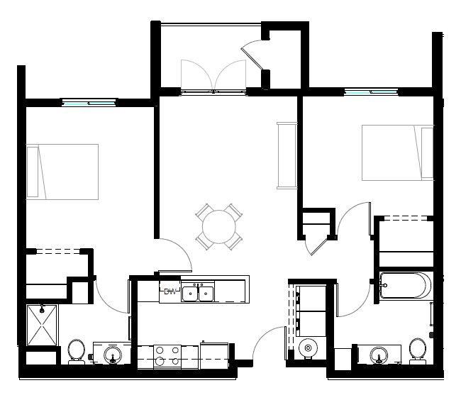 TWO BED STD Floor Plan 2