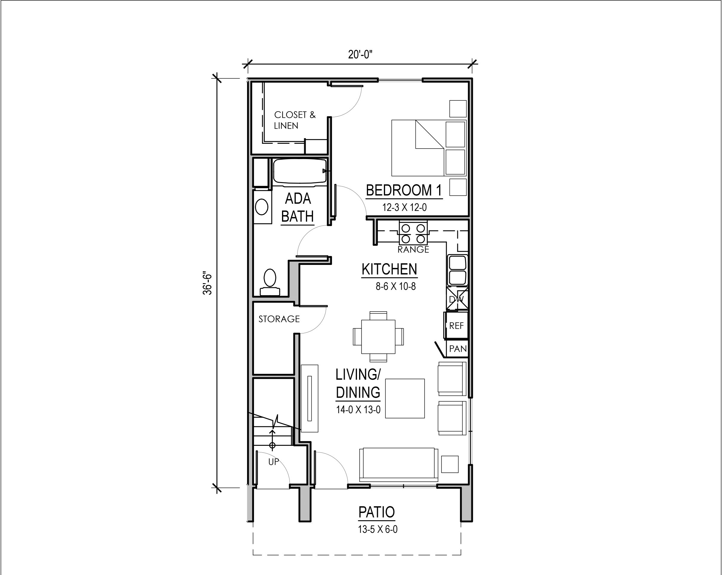 Rosewood Court I One Bedroom Unit