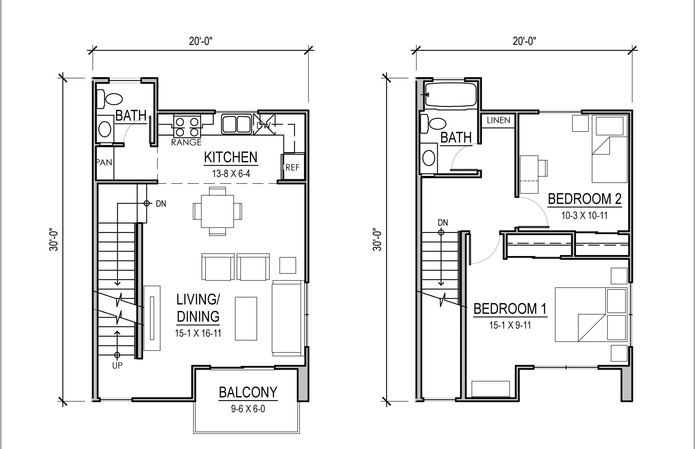 Rosewood Court I Two Bedroom Unit