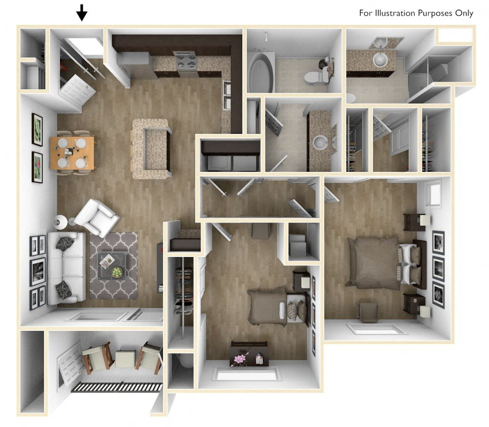 Floor Plans Of Champions Gate Apartments In San Antonio Tx