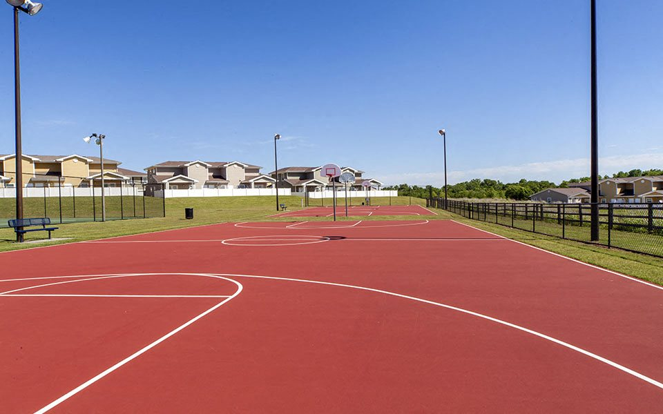Tinker AFB Homes basketball court