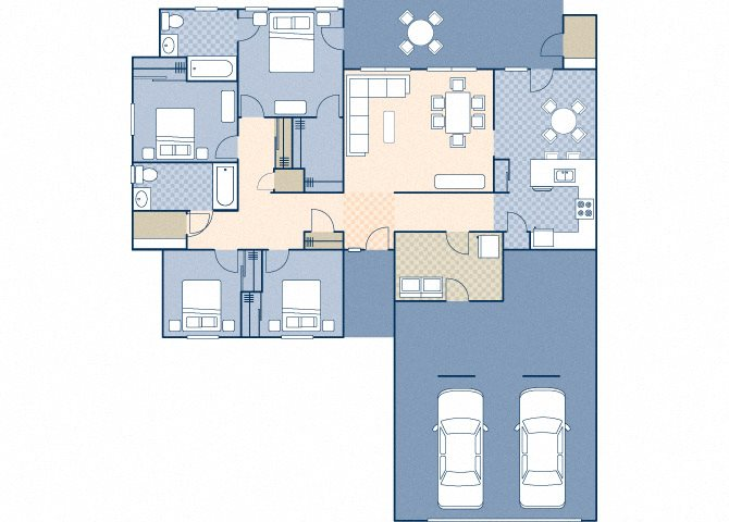 Castle Terrace 1370 B Floor Plan 5