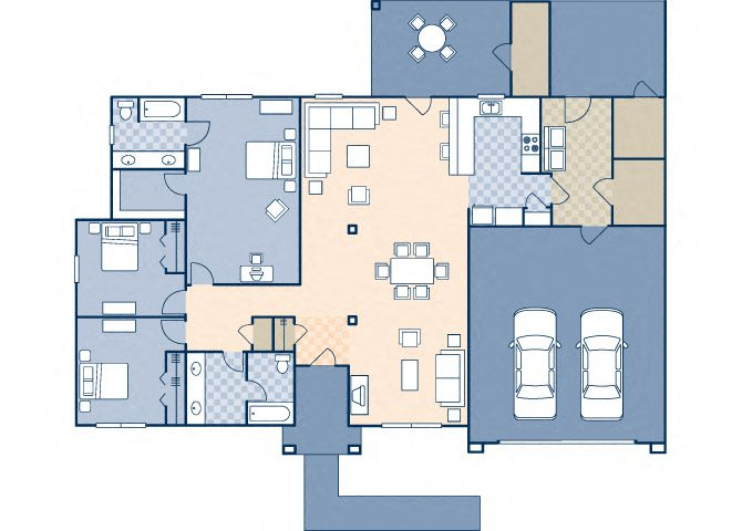 Onizuka Flats North 1574 Floor Plan 22