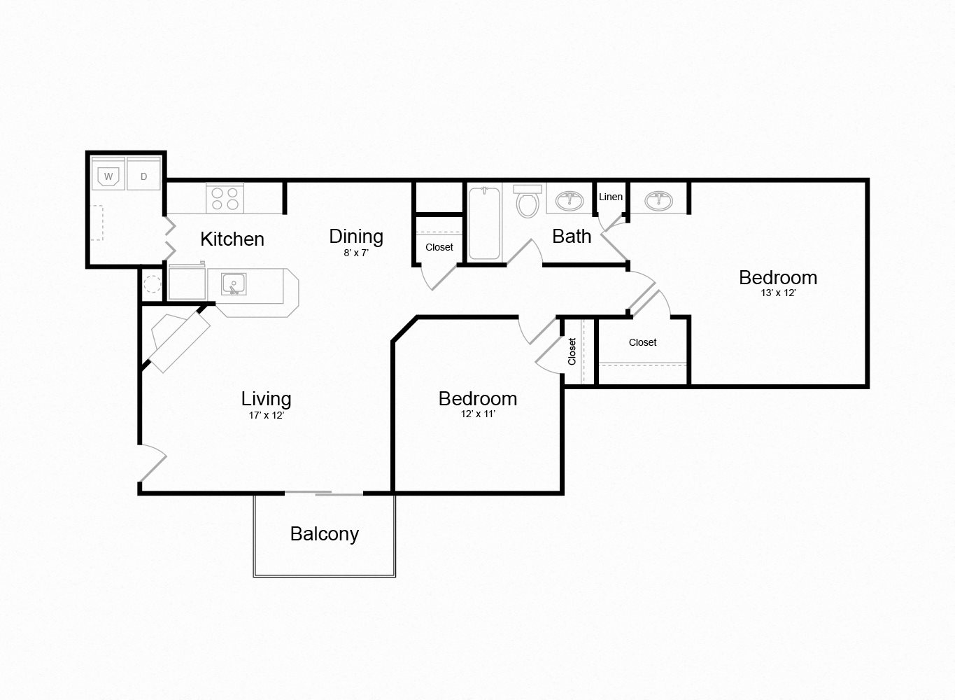 Floor plan at The Douglas at Constant Friendship, Maryland, 21009`