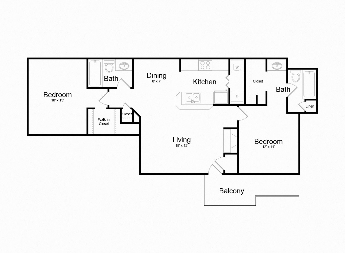 Floor plan at The Douglas at Constant Friendship, Abingdon , MD 21009