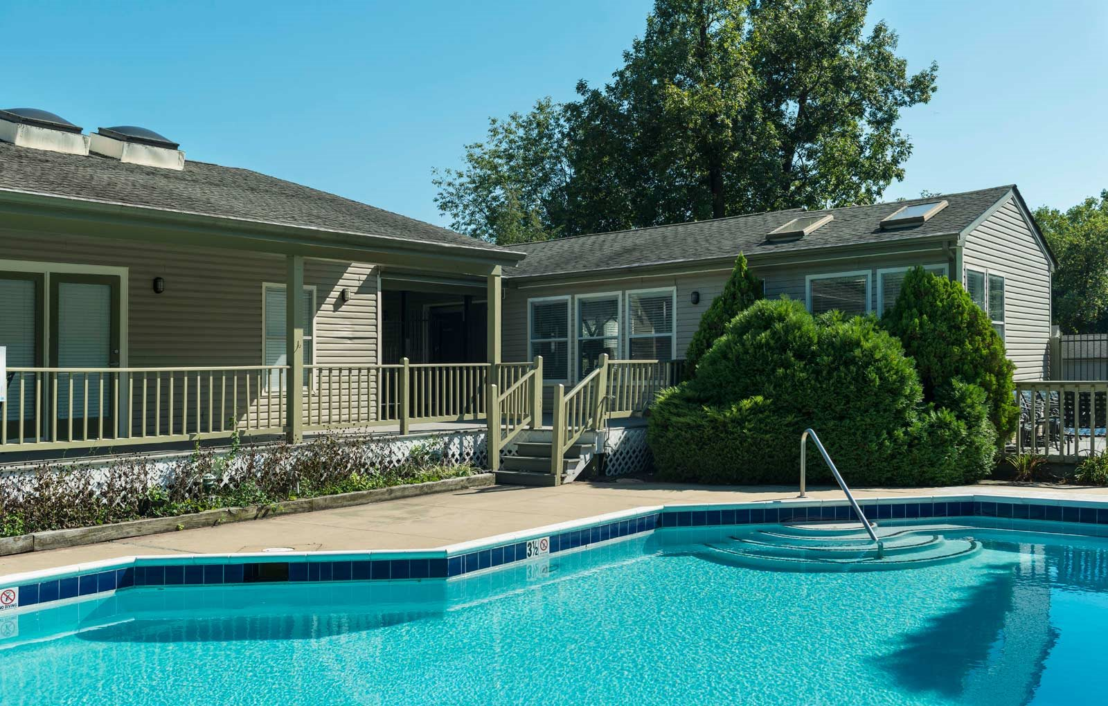 Luxurious Pool with Sundeck and Cabanas at The Douglas at Constant Friendship, Maryland, 21009