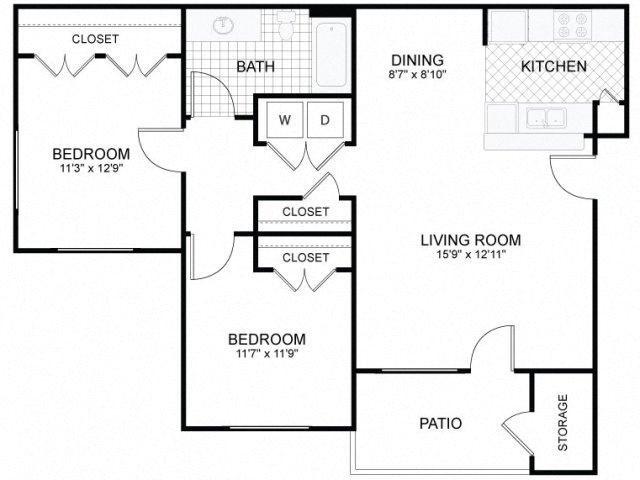 2x1 Floor Plan 5