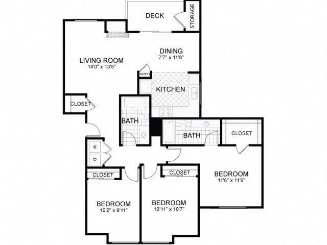 3 BED 2 BATH Floor Plan 5