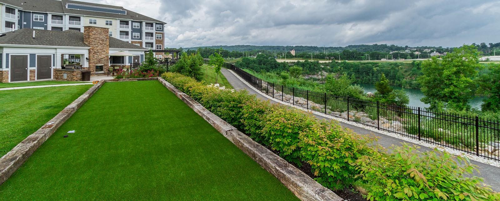Play Bocce Ball game at The Haven luxury apartments in Malvern, PA