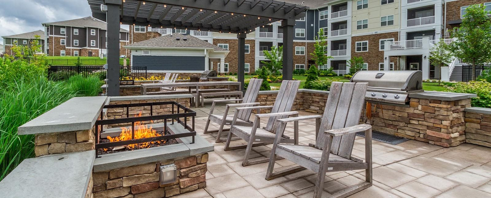 Outdoor Firepit of The Haven luxury apartments in Malvern, PA