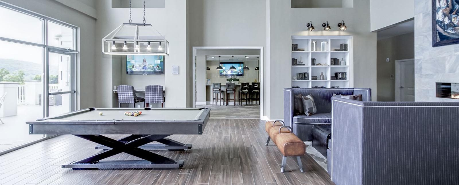 Clubhouse at The Haven luxury apartments in Malvern, PA