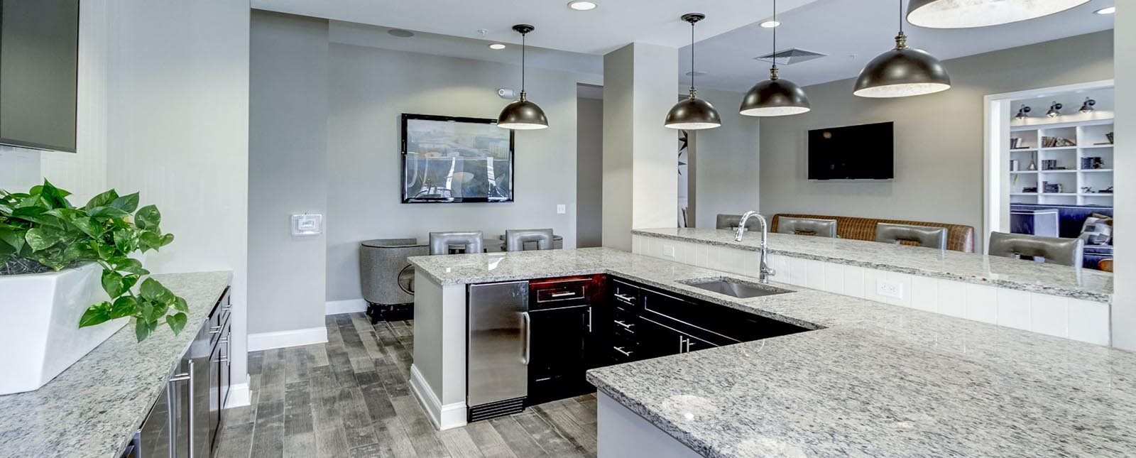 Catering Kitchen at The Haven luxury apartments in Malvern, PA