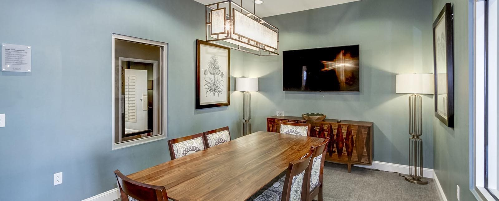 Conference Room of The Haven luxury apartments in Malvern, PA