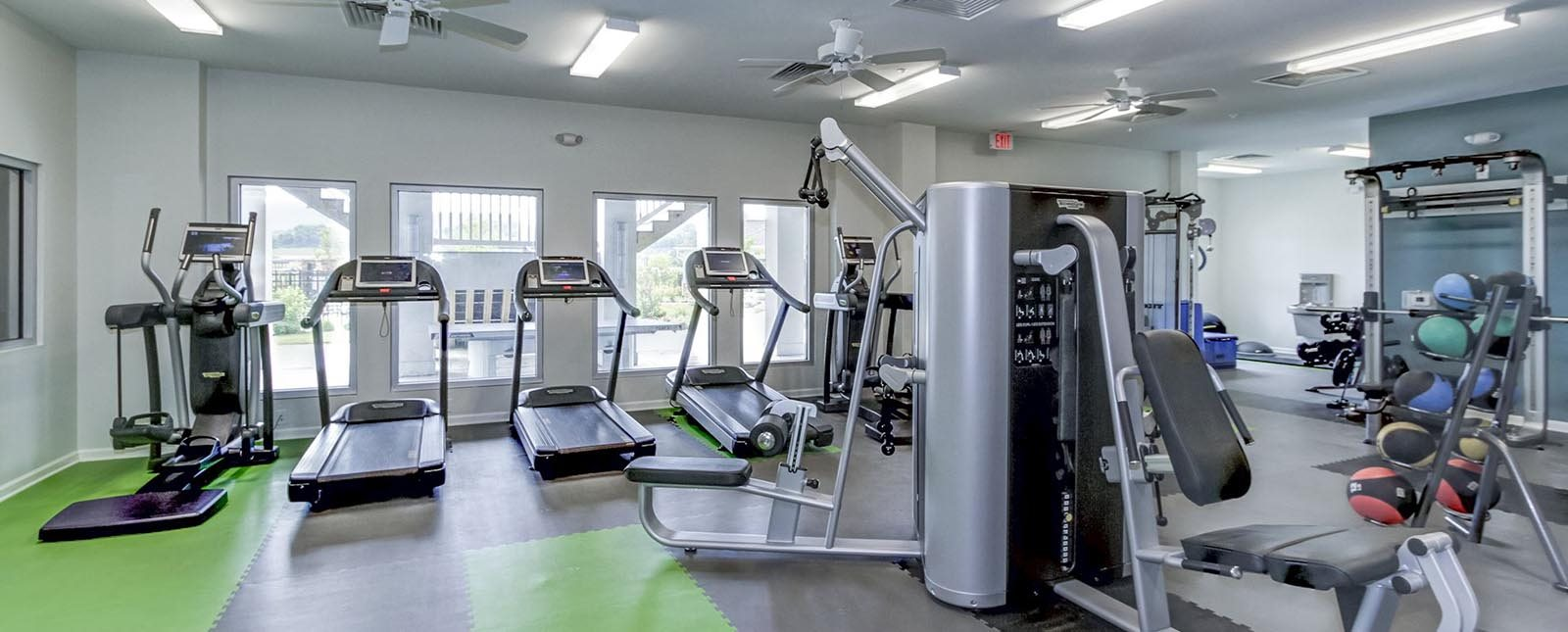 Fitness Center equipment of The Haven luxury apartments in Malvern, PA