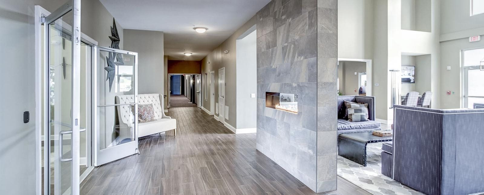 Hallways of The Haven luxury apartments in Malvern, PA