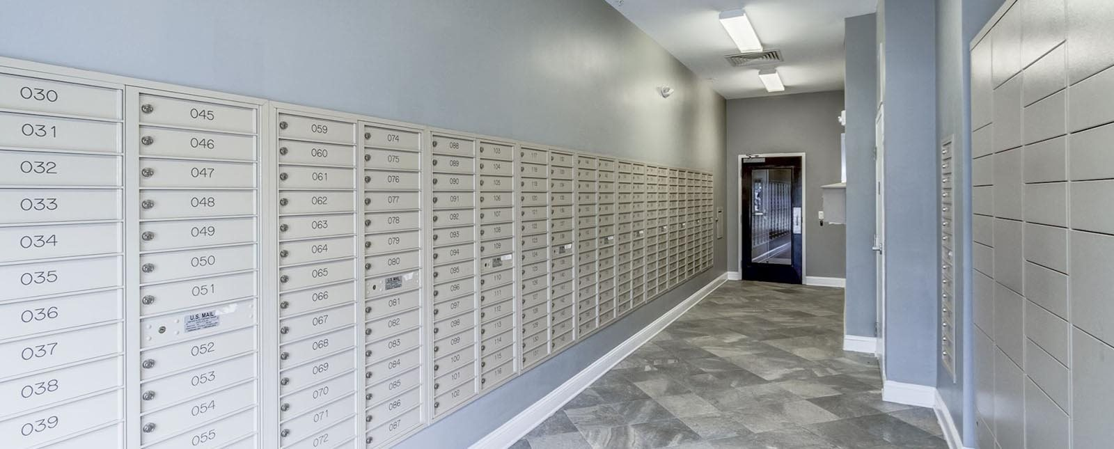 Mailroom of The Haven luxury apartments in Malvern, PA