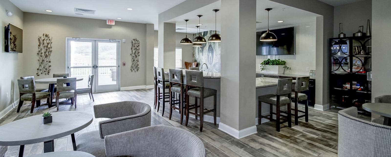 Expansive Resident Lounge of The Haven luxury apartments in Malvern, PA