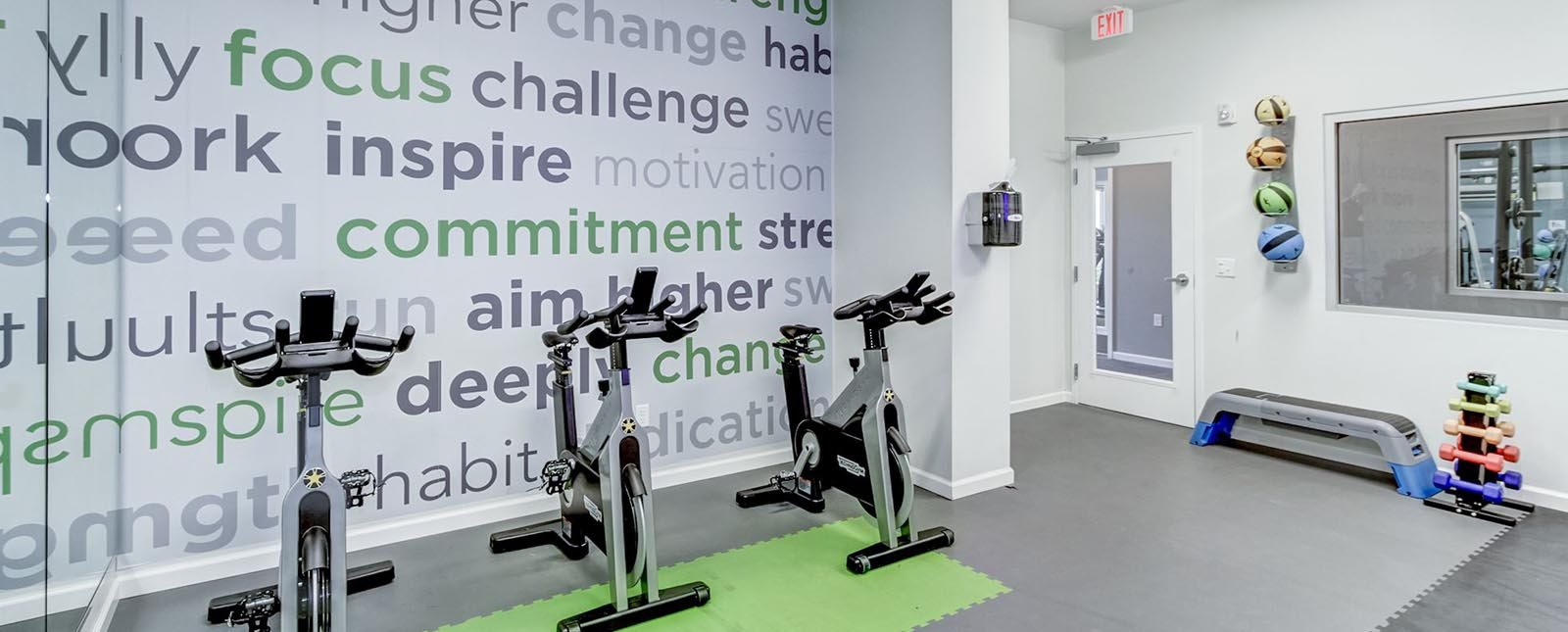 Spin Bikes of The Haven luxury apartments in Malvern, PA