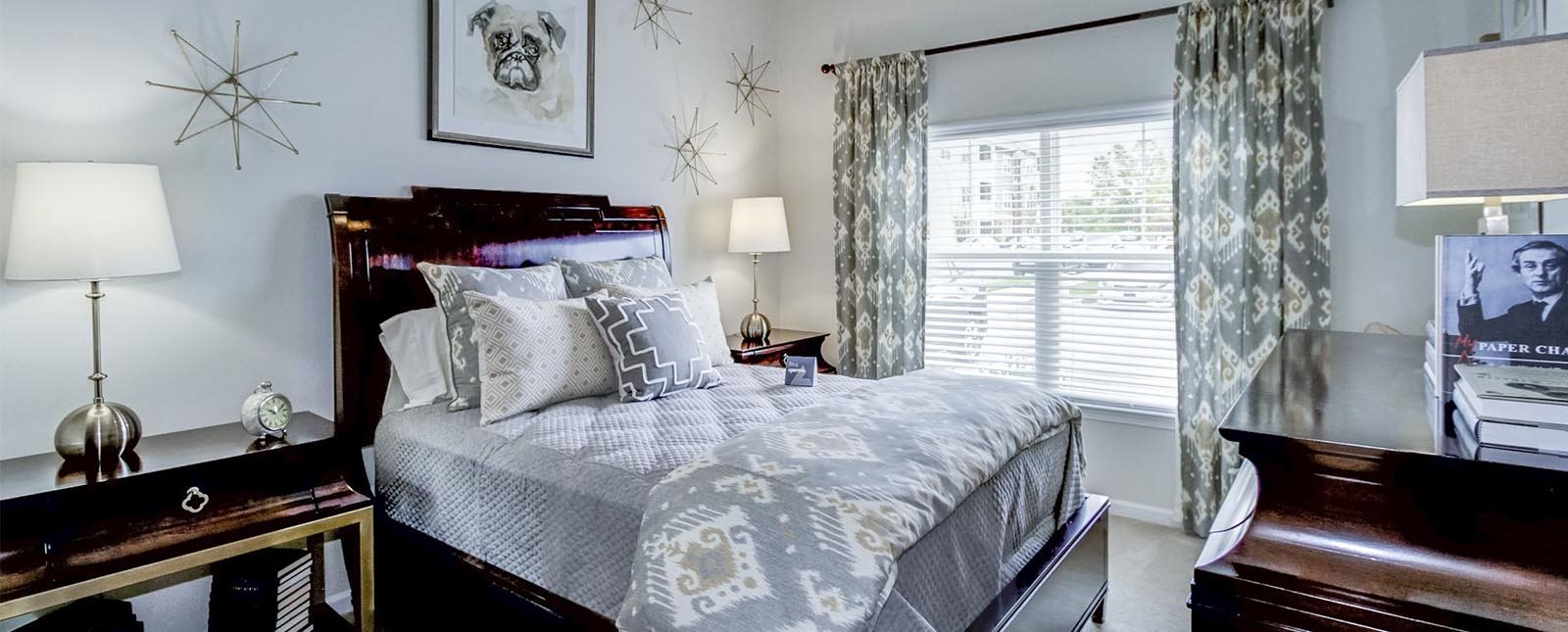 Two Bedroom guest bedroom The Haven luxury apartments in Malvern, PA