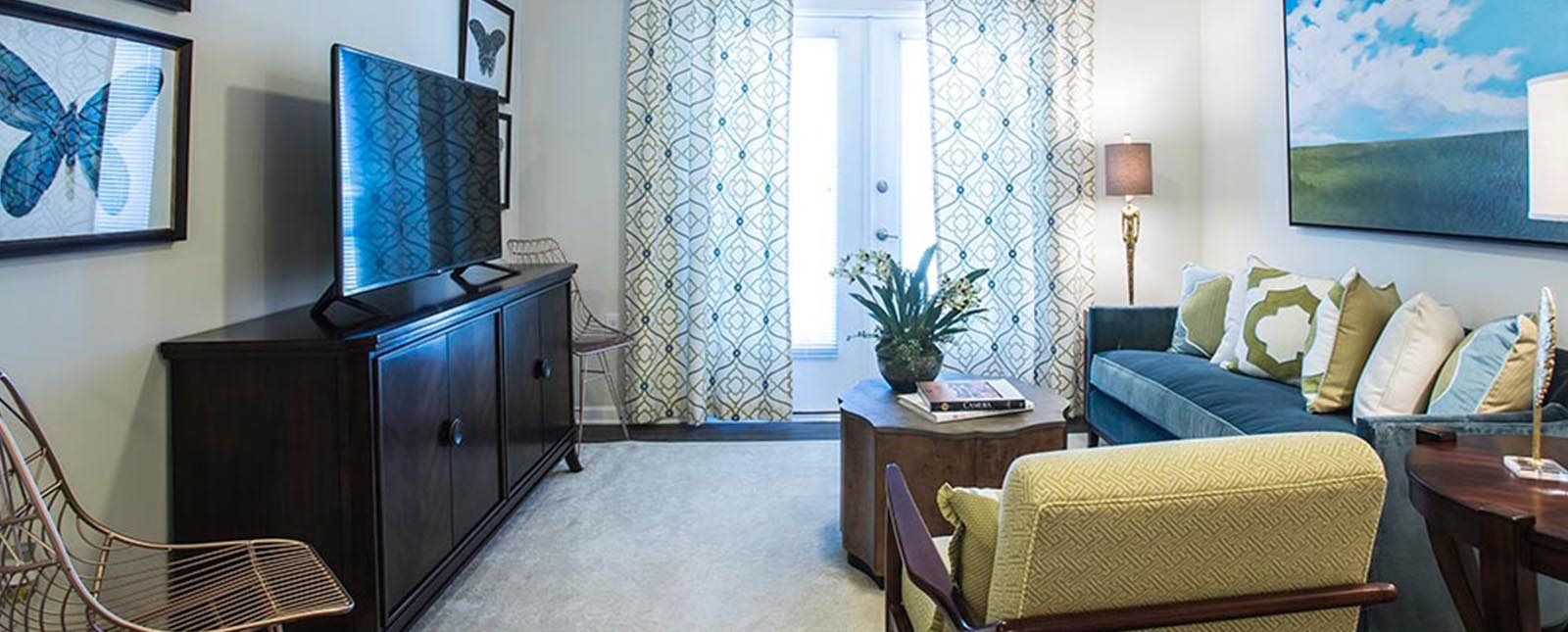 Living Room furniture of The Haven luxury apartments in Malvern, PA