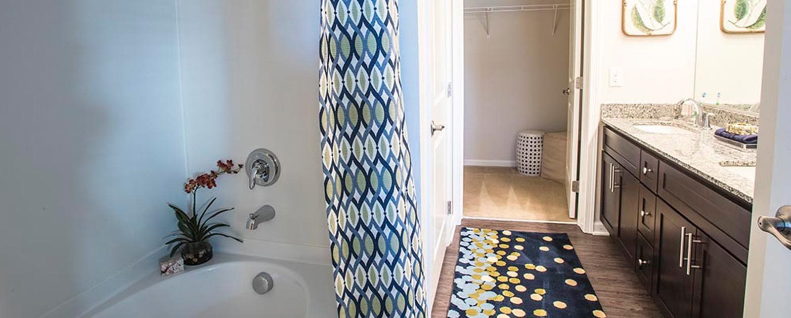 Exquisite Bathroom of The Haven luxury apartments in Malvern, PA