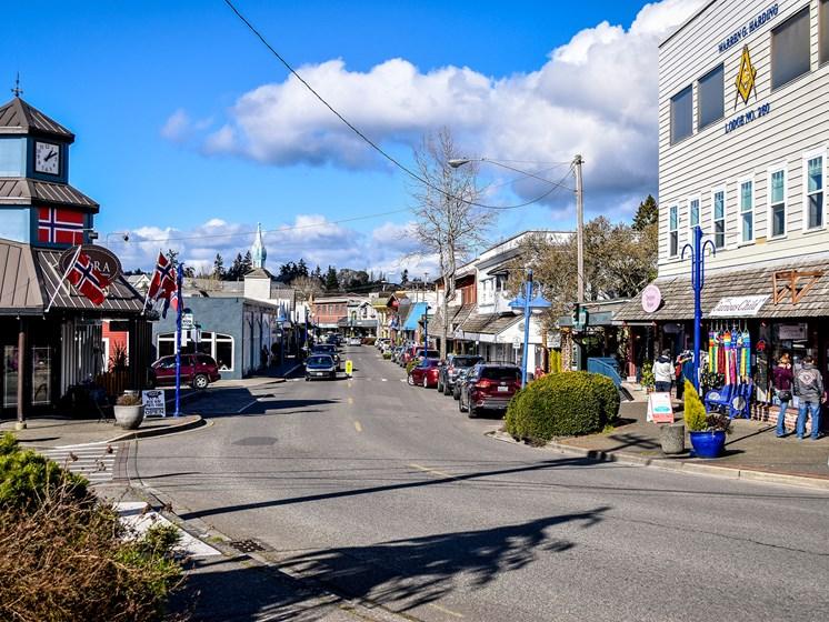 Image of Poulsbo inner town area.