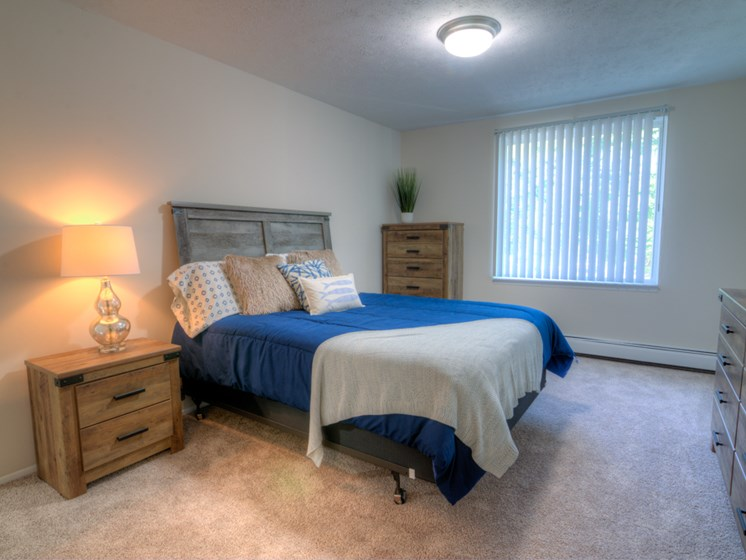 Large Bedrooms at Lakecrest Apartments in St Joseph MI