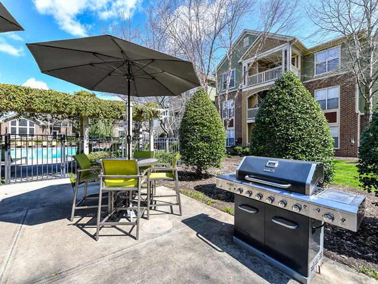 Looking for the perfect way to entertain guests or enjoy time spent with family and friends? Utilize the newly renovated Grilling Areas at Alden Place at South Square Apartments, Durham, NC 27707