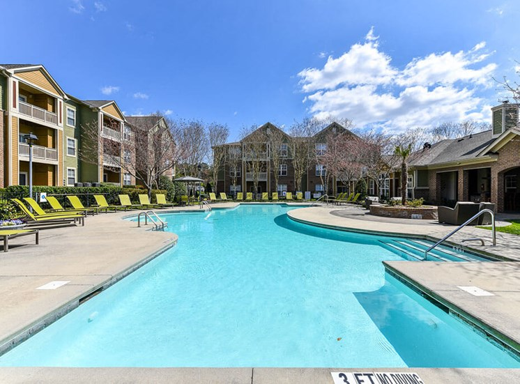 Enjoy one of our two sparkling swimming pools with more than enough lounge chairs to relax and catch some rays at Alden Place at South Square Apartments, Durham, NC 27707