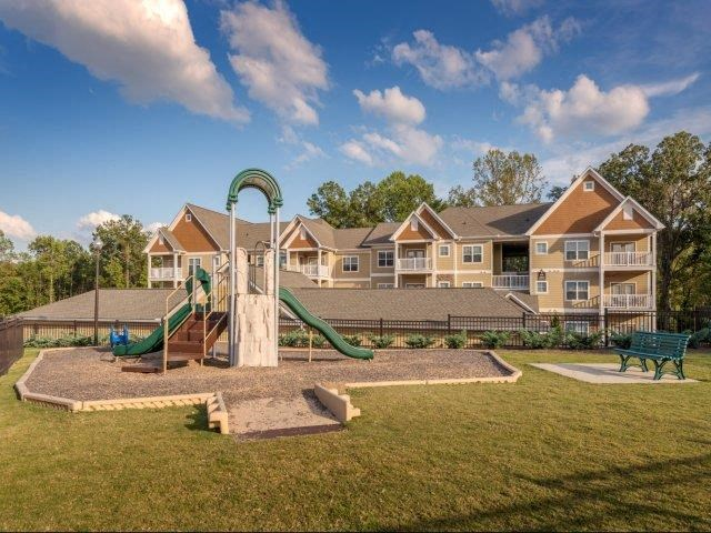 Children have a place to run and play at Alden Place too! Slides, Climbing Equipment and Bike Parking at Ashby at Ross Bridge, Hoover, AL 35226