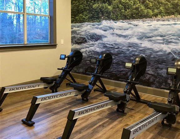 Health and Fitness Club including Spin Studio with Flat Screen TVs and more at Autumn Park Apartments, Charlotte, NC 28262