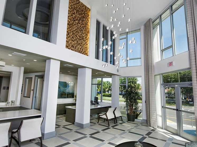 Stunning Modern Design Community Clubhouse with Ample Space and Amenities at Bleecker Hyde Park, Tampa, FL, 33606