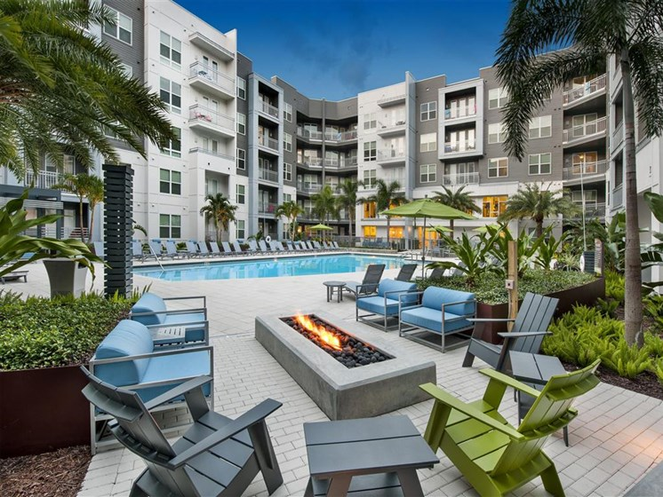 Revitalizing Pool with Relaxation Space and Seating Area at Bleecker Hyde Park, Tampa, FL, 33606
